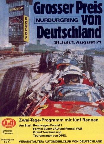 Poster GP. F1 Alemania 1971