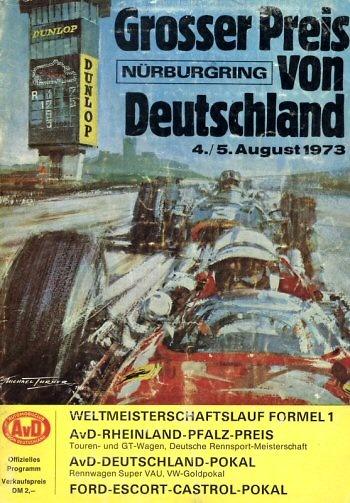 Poster GP. F1 Alemania 1973