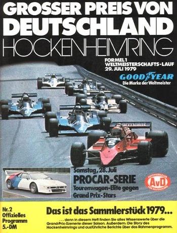 Poster GP. F1 Alemania 1979