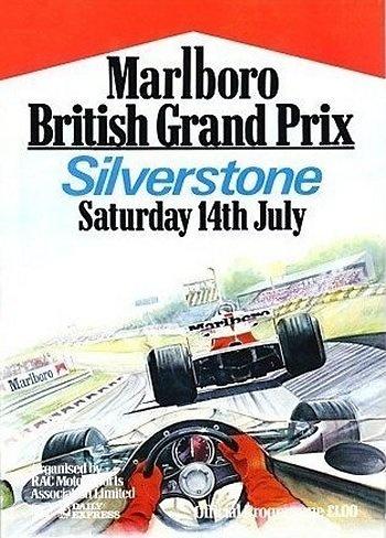 Poster del GP. F1 de Gran Bretaña de 1979