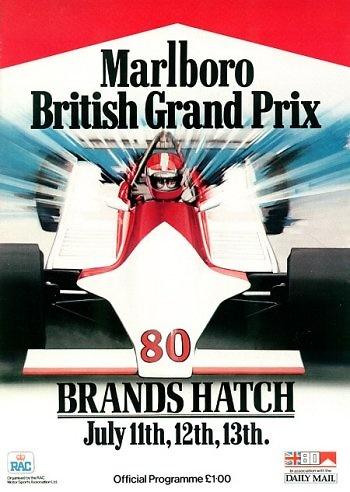 Poster del GP. F1 de Gran Bretaña de 1980