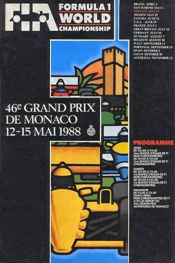 Poster del GP. F1 de Mónaco de 1988