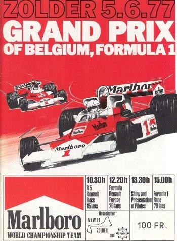 Poster GP. F1 Bélgica 1977