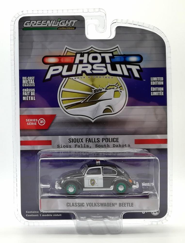 Volkswagen Beetle - Policía de Sioux Falls (Dakota del Sur) Greenlight 42880F 1/64