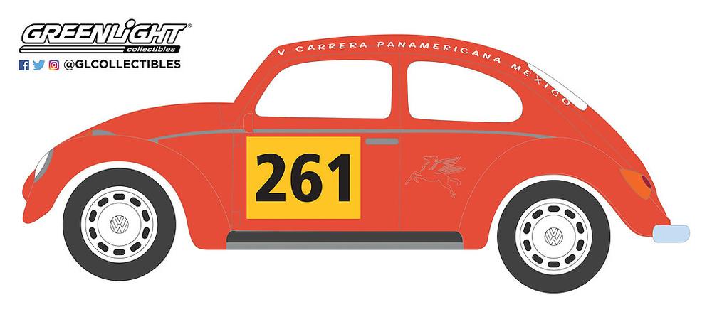 Volkswagen Beetle nº 261 (1954) Greenlight 13240A 1/64