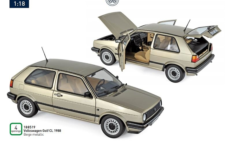 Volkswagen Golf CL (1988) Norev 188519 1:18