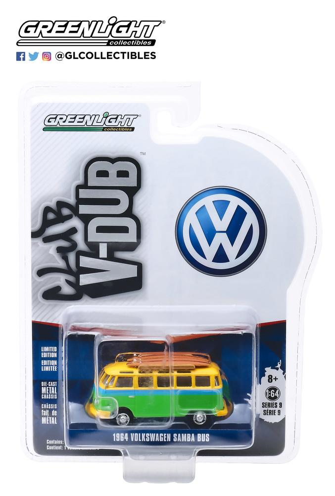 Volkswagen T1 Samba con tabla de Surf (1964) Greenlight 29960B 1/64