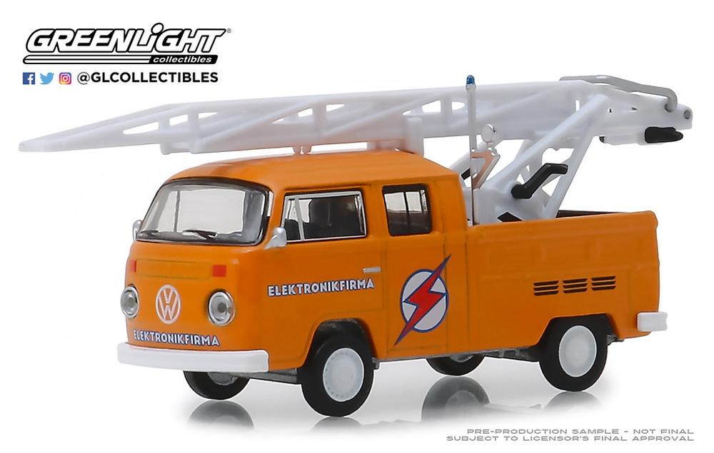 Volkswagen T2 Doble Cabina con escala (1972) Greenlight 29960D 1/64