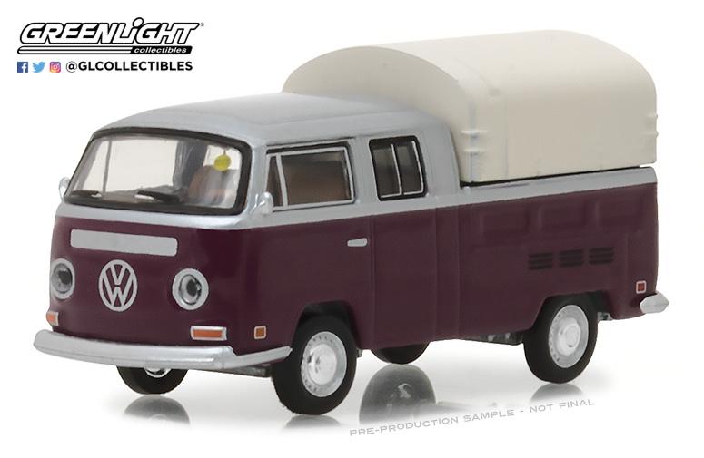 Volkswagen T2 cabina doble (1971) Green Light 37140C 1/64