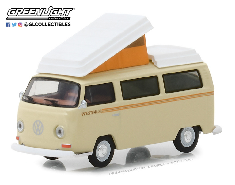Volkswagen Tipo 2 Campmobile Westfalia (1972) Greenlight 29920F 1/64