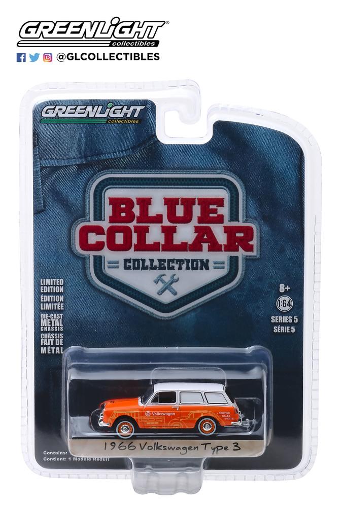 35120-C 1:64 Blue Collar Collection Series 5 - 1966 Volkswagen Type 3 Panel Van - Volkswagen Sales and Service