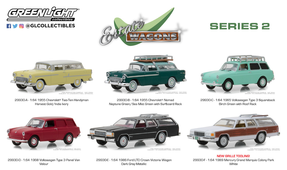 State Wagons serie 2 (2018) Greenlight 1/64