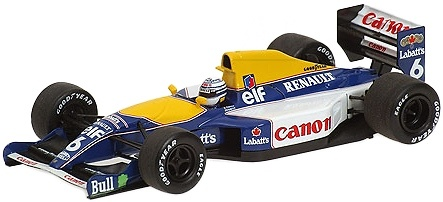 Williams FW14 nº 6 Ricardo Patrese (1991) Minichamps 400910006 1/43