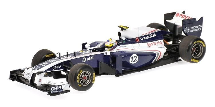 Williams FW33 nº 12 Pastor Maldonado (2011) Minichamps 1/43