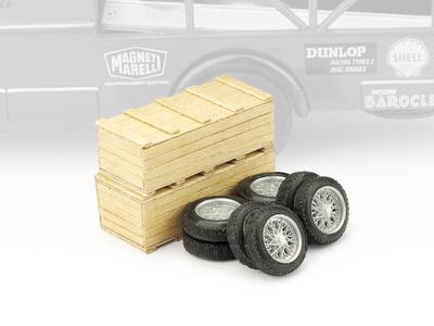 2 cajas con 2 juegos neumáticos Ferrari F156 (1961) Brumm 1/43