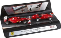 """60 años de éxitos"" Ferrari F150 Fernando Alonso y Ferrari 375 Froilán Gonzalez (1951-2011) Mattel 1/43"