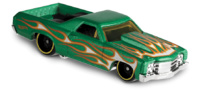 71 El camino -Flames- (1971) Hot Wheels 1/64