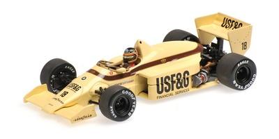 "Arrows A8 ""GP. Gran Bretaña"" nº 18 Thierry Boutsen (1986) Minichamps 1:43"