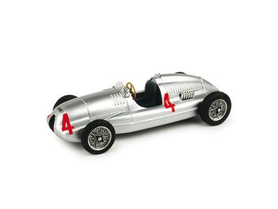 "Auto Union Tipo D ""GP. Gran Bretaña"" nº 4 Tazio Nuvolari (1938) Brumm 1/43"