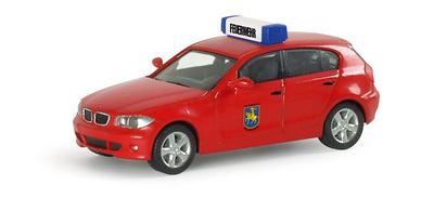 """BMW Serie 1 """"Schwerin Fire Department"""" Herpa 1/87"""