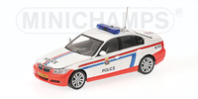 BMW Serie 3 -E90- (2005) Policia de Luxemburgo Minichamps 1/43
