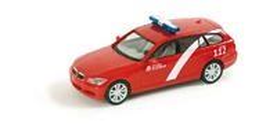 "BMW Serie 3 Touring ""Berlin fire department"" (2005) -E91- Herpa 1/87"