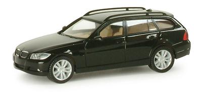 BMW Serie 3 Touring- E91- Negro - (2005) Herpa 1/87
