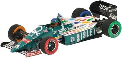 """Benetton B186 """"GP. USA-Detroit"""" nº 20 Gerhard Berger (1986) Minichamps 1/43"""
