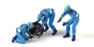 Benetton Mecánicos cambiando ruedas inicio (1999) Minichamps 1/43