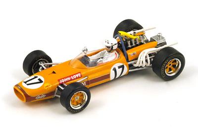 """Brabham BT20 """"GP. Sudáfrica"""" nº 17 John Love (1968) Spark 1:43"""