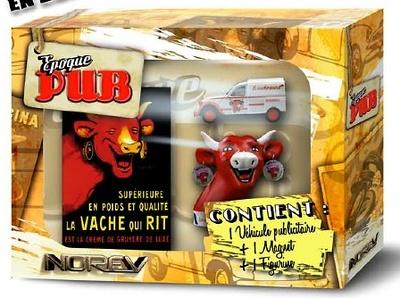 """Caja """"La Vaca que Rie"""" Citroen 2CV Furgoneta Norev A10001 1/43"""
