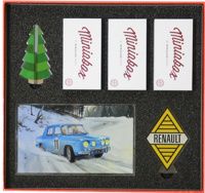Caja Regalo 3 Renault 8 Gordini (1973) (Navidad 2017) Minialuxe 1/66