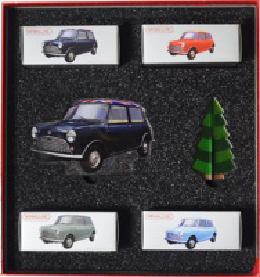 Caja Regalo 4 Austin Mini Morris (Navidad 2017) Minialuxe 1/66
