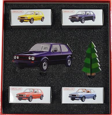 Caja Regalo 4 Volkswagen Golf serie 1 (1975) (Navidad 2017) Minialuxe 1/66
