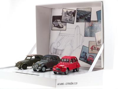 Caja conmemorativa 60 años del 2CV nº 2 Norev 1/43