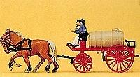 Carro de Bomberos (1900) Cisterna Agua Preiser 1/87
