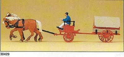 Carro de Bomberos (1900) Transporte de Carbón Preiser 1/87