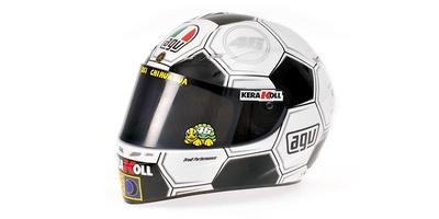 """Casco AGV """"GP Barcelona"""" Valentino Rossi (2008) Minichamps 1/2"""