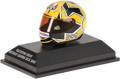 """Casco AGV """"GP Laguna Seca"""" Valentino Rossi (2005) Minichamps 1/8"""