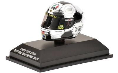 """Casco AGV """"GP. Barcelona"""" Valentino Rossi (2008) Minichamps 1/8"""