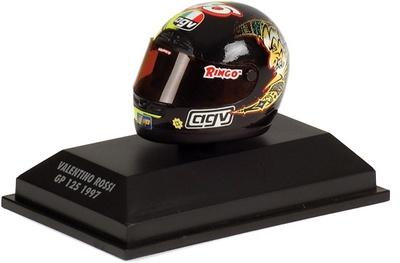"Casco AGV ""Moto3-125"" Valentino Rossi (1997) Minichamps 1/8"