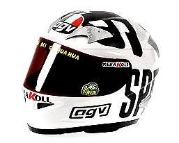 """Casco AGV """"MotoGP Phillip Island"""" Valentino Rossi (2004) Minichamps 1/2"""