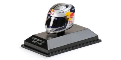 """Casco Arai """"GP. Italia"""" Sebastian Vettel (2008) Minichamps 1:8"""