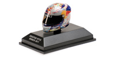 "Casco Arai ""GP. Mónaco"" Sebastian Vettel (2011) Minichamps 1:8"