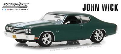 """Chevrolet Chevelle SS 396 """"John Wick 2"""" (1970) Greenlight 1/43"""