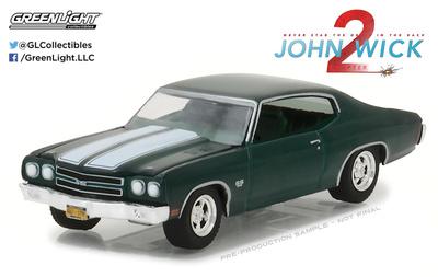 """Chevrolet Chevelle SS 396 """"John Wick 2"""" (1970) Greenlight 1/64"""