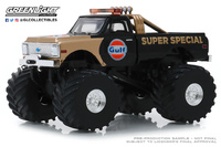 "Chevrolet K-10 Monster Truck ""Gulf Oil Super Special"" 66"" pulgadas (1977) Greenlight 1/43"