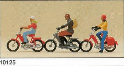 Ciclomotores con figuras Preiser 1/87