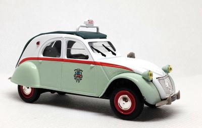 Citroen 2CV AZL Taxi de París (1957) Norev-Hachette 1/43