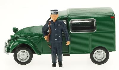 """Citroen 2CV AZU """"Correos Luxemburgo""""con Figura (1958) Eligor 1/43"""